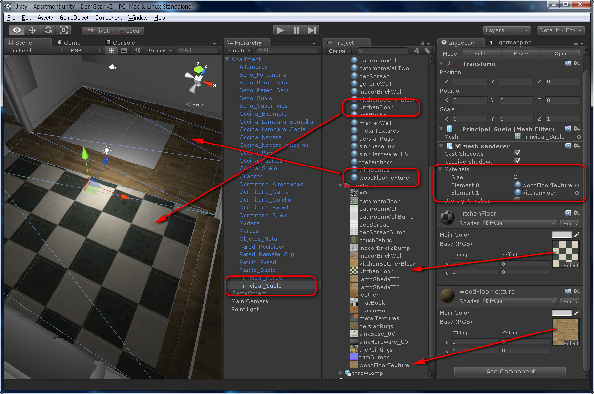 Materials and textures from Blender to Unity 3D | Edy's Projects
